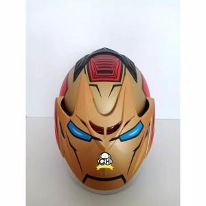 Harga helm motor sni double visor marvel ironman   red | HARGALOKA.COM
