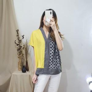 Harga atasan baju casual wanita premium   kieron batik top nwclothing   | HARGALOKA.COM