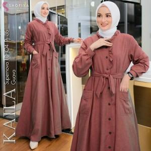 Harga baju gamis maxy wanita muslim terbaru kaila dress supernova busu | HARGALOKA.COM