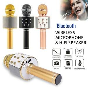 Harga mic wster ws858 original wireless bluetooth karaoke speaker   HARGALOKA.COM