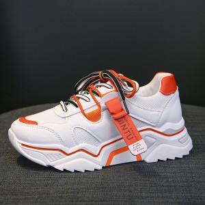 Harga sepatu olahraga wanita sepatu sneakers cewek import sp  014 varian c2   orange | HARGALOKA.COM