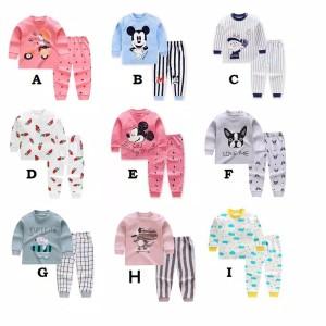 Harga bekasi setelan lengan panjang anak 0 6 tahun set baju tidur bayi   set f   HARGALOKA.COM