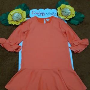Harga baju dress branded anak perempuan cewek murah   orange 12 | HARGALOKA.COM