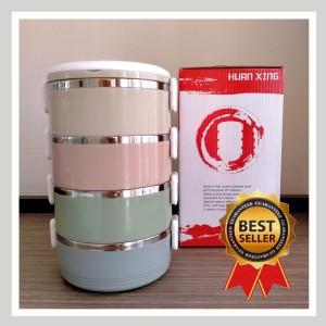 Harga rantang stainless steel 4 susun kotak makan lunch box tahan | HARGALOKA.COM
