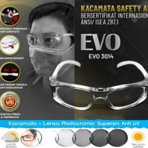 Harga kacamata minus safety prescription frame lensa potocromik normal minus   | HARGALOKA.COM