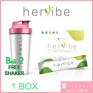 Harga hervibe official by herwell 1 box isi 16 sachet | HARGALOKA.COM