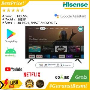 Harga led tv 40 inch hisense 40e4f smart android tv google assistant | HARGALOKA.COM