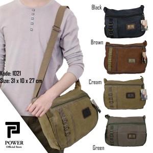 Harga tas selempang canvas polo power shoulder bag import pria good quality   | HARGALOKA.COM