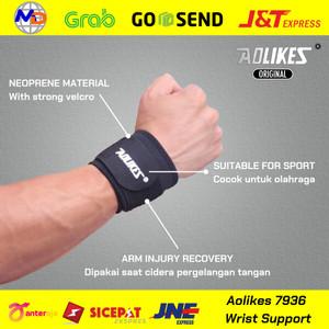 Harga aolikes wrist wrap strap support pembalut deker pergelangan   HARGALOKA.COM