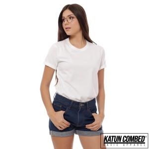 Harga kaos polos cewek lengan pendek warna putih kaos wanita baju polos   putih | HARGALOKA.COM
