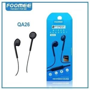 Harga headset foomee qa26 wired earphone hd stereo sound in ear super | HARGALOKA.COM