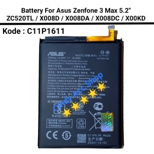 Harga baterai batre asus zenfone 3 max zc520tl x008da c11p1611 original   HARGALOKA.COM