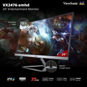 Harga monitor led 23 5 34 24 34 viewsonic vx2476 smhd full hd ips | HARGALOKA.COM