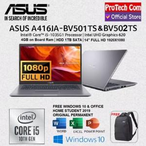 Harga laptop asus a416ja   core i5 1035g1 4gb 1tb intel uhd14 34 fhd ohs   HARGALOKA.COM