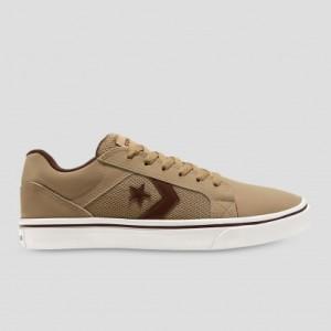 Harga sepatu converse mens eldistrito first low top khaki | HARGALOKA.COM