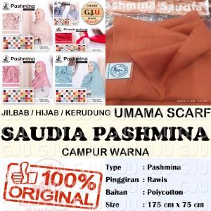 Harga umama saudia pashmina rawis campur warna grosir | HARGALOKA.COM