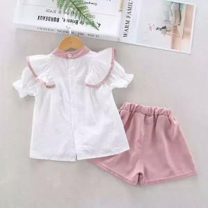 Harga setelan import anak perempuan style korea   pink putih | HARGALOKA.COM