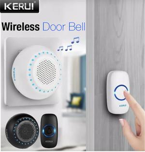 Harga kerui m523 wireless bel pintu doorbell waterproof led transmitter 1   1tombol   HARGALOKA.COM