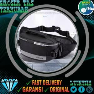 Harga bisa cod tas selempang pria murah waterproof waistbag terbaru   | HARGALOKA.COM