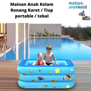 Harga mainan anak kolam renang karet tiup portable tebal   130 | HARGALOKA.COM