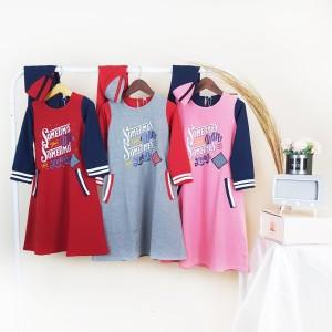 Harga pakaian baju fashion dress tunik anak perempuan kaos murah jilbab   pink 4 3 thn | HARGALOKA.COM