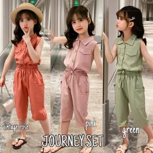 Harga bajukiddie journey set baju setelan anak perempuan korea import pink   green | HARGALOKA.COM