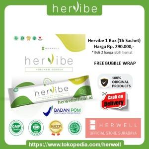 Harga herwell hervibe 1 box 16 sachet pelangsing detox diet bpom | HARGALOKA.COM