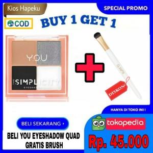 Harga kosmetik you the simplicity eyeshadow quad palet 4 warna original bpom   dare | HARGALOKA.COM