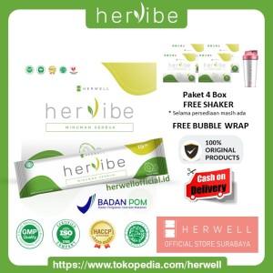 Harga hervibe detox 4 box 64 sachet   slimming diet pelangsing bpom | HARGALOKA.COM
