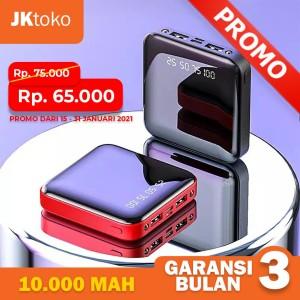 Harga powerbank 10000mah baterai hp universal power bank digital 2usb port g   hitam 10000 | HARGALOKA.COM
