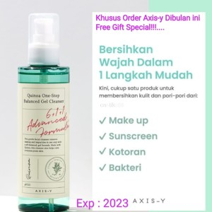 Harga axis y quinoa one step balanced gel cleanser 180ml | HARGALOKA.COM
