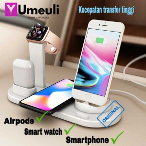 Harga wireless charging docking 3 in 1 for phone apple watch | HARGALOKA.COM