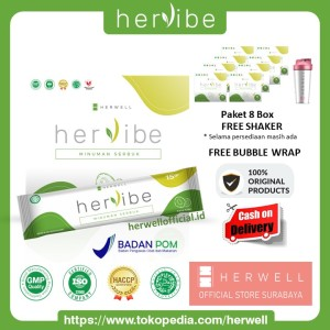 Harga hervibe pelangsing 8 box 128 sachet slimming diet detox bpom | HARGALOKA.COM