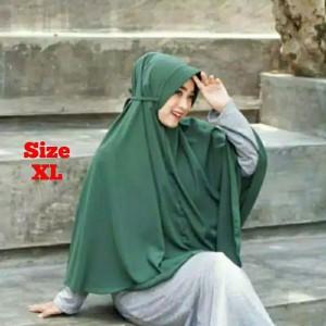 Harga a5 hijab kerudung jilbab bergo maryam moscreepe size ukuran xl pet   on   HARGALOKA.COM