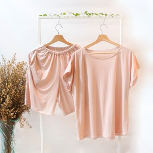 Harga set piyama wanita polos bahan kaos katun celana pendek seruni living   light   HARGALOKA.COM