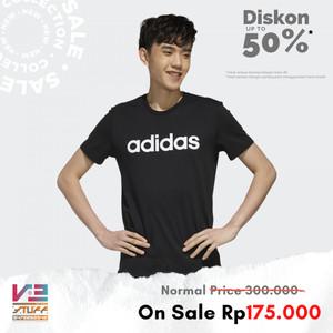 Harga kaos adidas original pria neo essentials linear logo tee   | HARGALOKA.COM