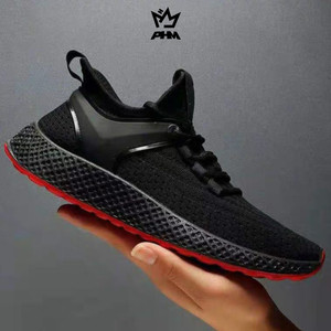Harga phm shoes sepatu pria sneakers import sepatu olahraga kasual phm104   hitam merah   HARGALOKA.COM