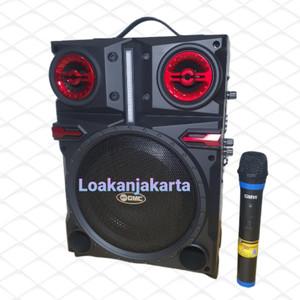 Harga speaker portable gmc 897r 8 inch bluetooth karaoke | HARGALOKA.COM