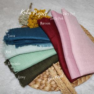 Harga hijab segiempat polos crincle shawl segi empat negro   green | HARGALOKA.COM