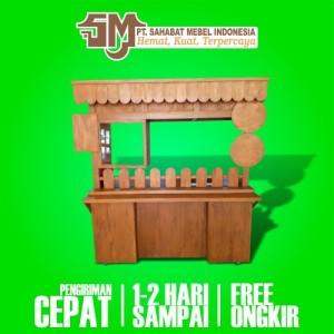 Harga rombong stand booth minuman gerobak booth 1 booth kayu free ongkir   kayu | HARGALOKA.COM
