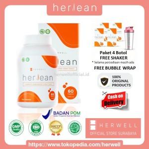 Harga herlean herwell 4 box 240 kapsul   pelangsing diet detox bpom | HARGALOKA.COM