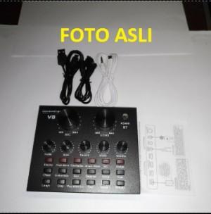 Harga sound card v8 mixer external soundcard v8 usb audio live broadcast | HARGALOKA.COM