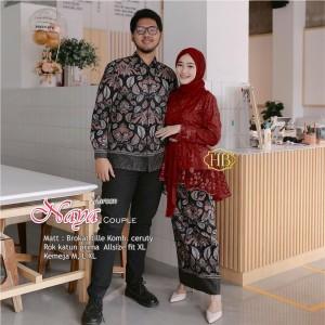 Harga couple kebaya masa kini baju tunangan couple terbaru kebaya batik   | HARGALOKA.COM