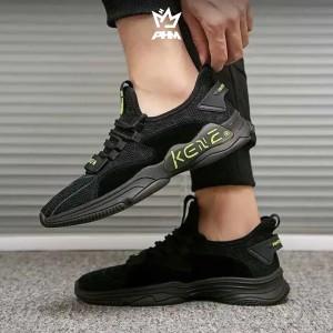 Harga phm shoes minos sepatu sneakers pria olahraga sport shoes casual   hitam   HARGALOKA.COM