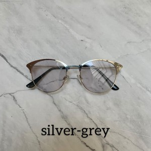 Harga kacamata photocromic anti radiasi dots model korea   silver | HARGALOKA.COM