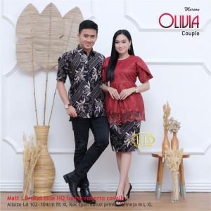 Harga kebaya couple brokat olivia lengan pendek terbaru murah baju wanita   | HARGALOKA.COM