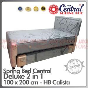 Harga spring bed central deluxe 2 in 1 headboard calista   sorong central   100 x 200 | HARGALOKA.COM