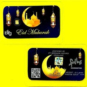 Harga emas mini 0 1gram edisi eid mubarak   thr lebaran hari raya idul | HARGALOKA.COM