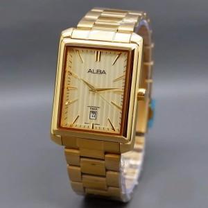 Harga jam tangan pria alba segi rantai tanggal   full | HARGALOKA.COM