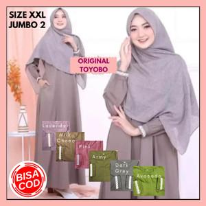 Harga baju gamis syari wanita muslim terbaru size jumbo xxl 02 promo   dark | HARGALOKA.COM